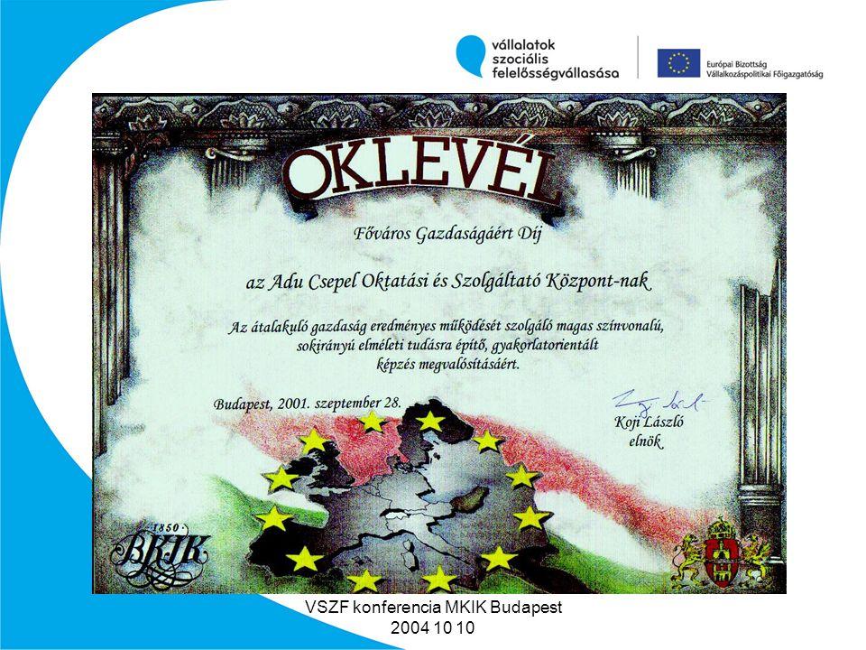 VSZF konferencia MKIK Budapest 2004 10 10 Nemzetközi kapcsolataink MGUKI Moszkva ZDZKIELCE Adu RO.