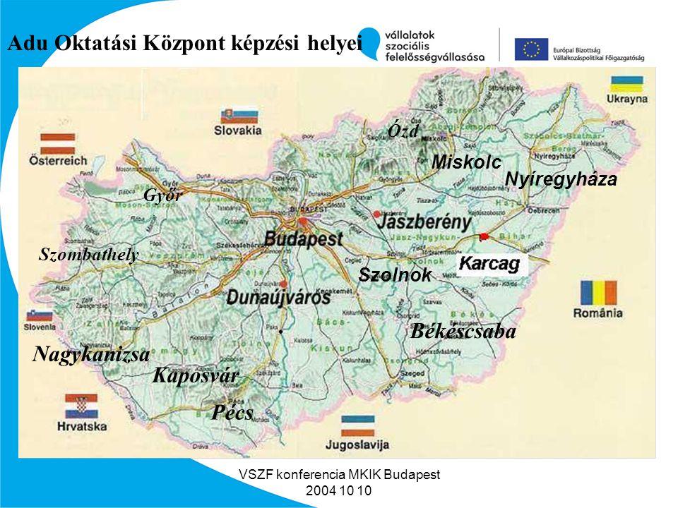 VSZF konferencia MKIK Budapest 2004 10 10 Milyen vállalkozásunk van.