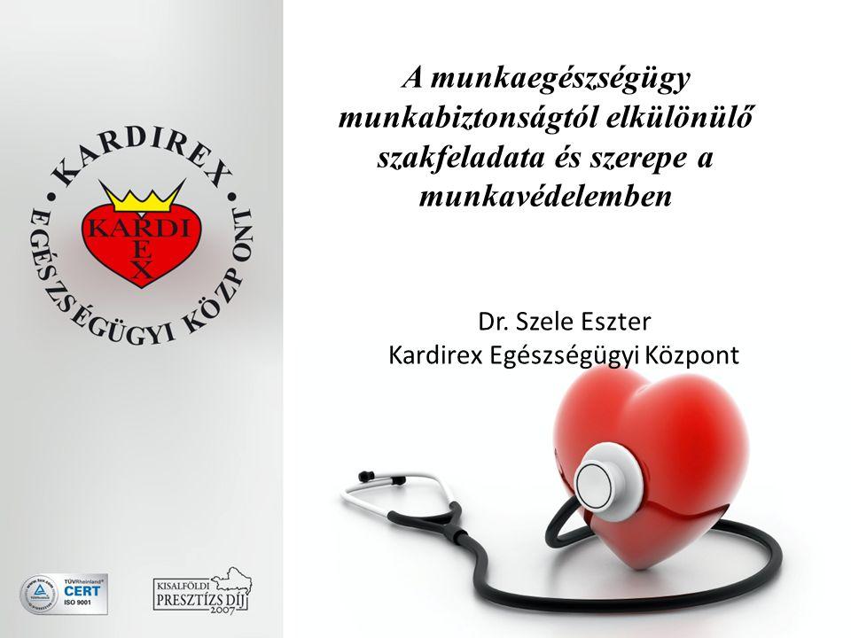 A munkaegészségügy munkabiztonságtól elkülönülő szakfeladata és szerepe a munkavédelemben Dr.