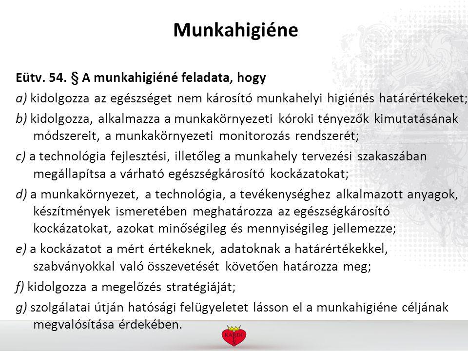 Munkahigiéne Eütv. 54.