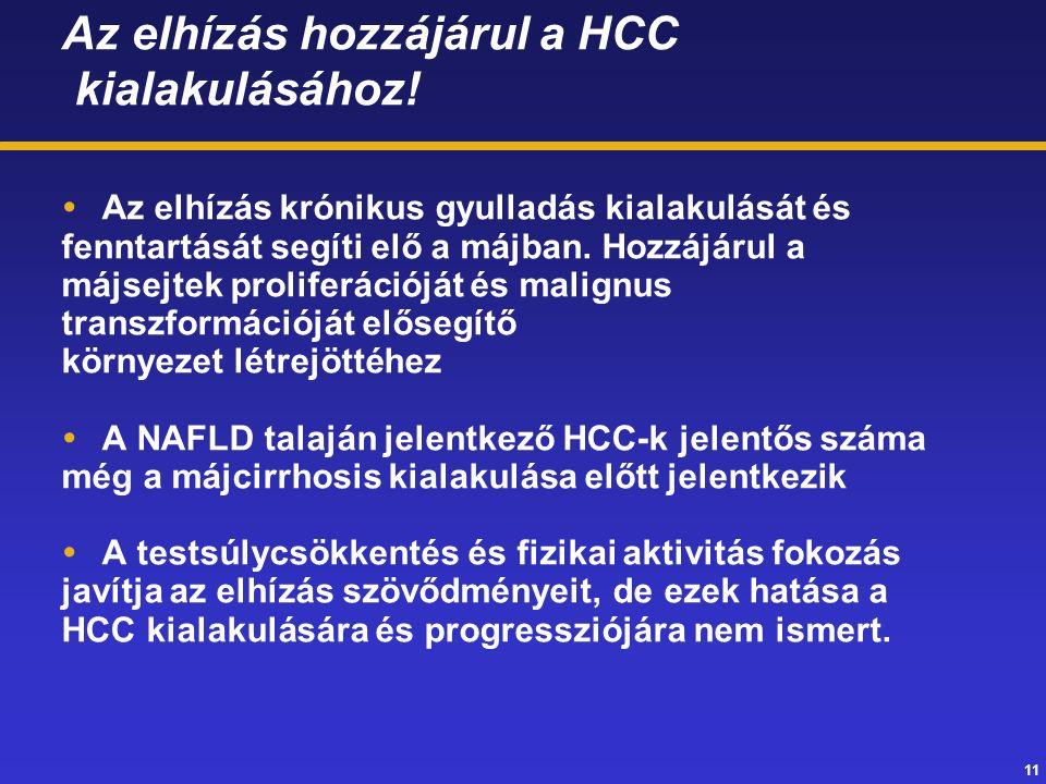 11 Az elhízás hozzájárul a HCC kialakulásához.