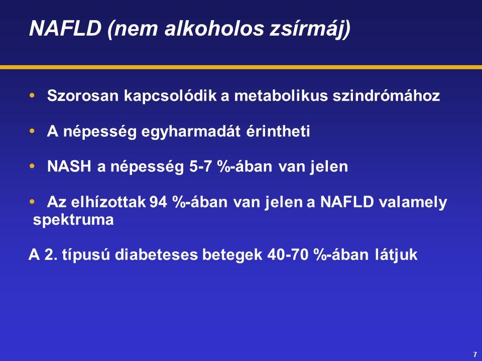 38 Krónikus májbetegségre rárakódott heveny májelégtelenség  Olyan szindróma, mely nem cirrhózisos és cirrhózisos krónikus májbetegeknél alakul ki.