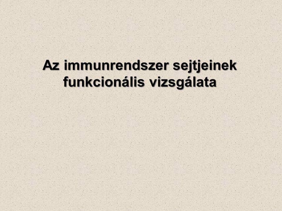 Az immunrendszer sejtjeinek funkcionális vizsgálata