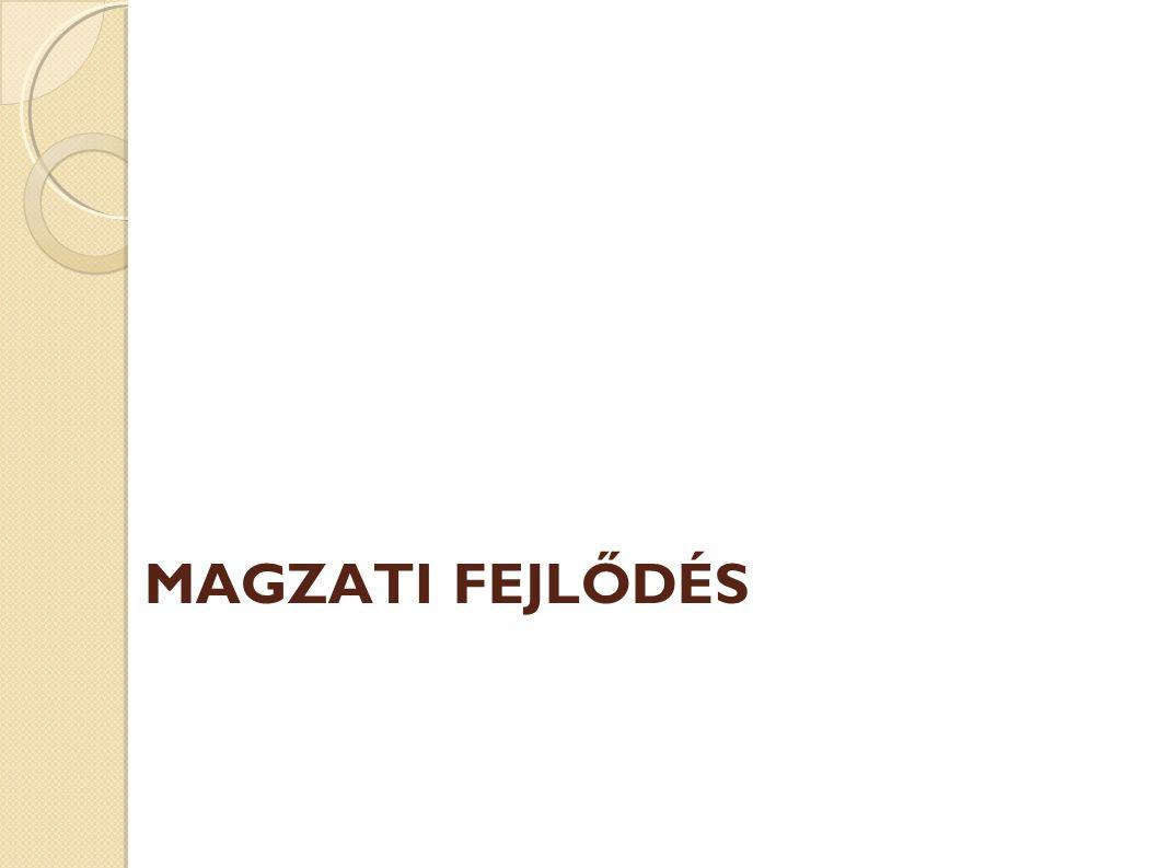 MAGZATI FEJLŐDÉS