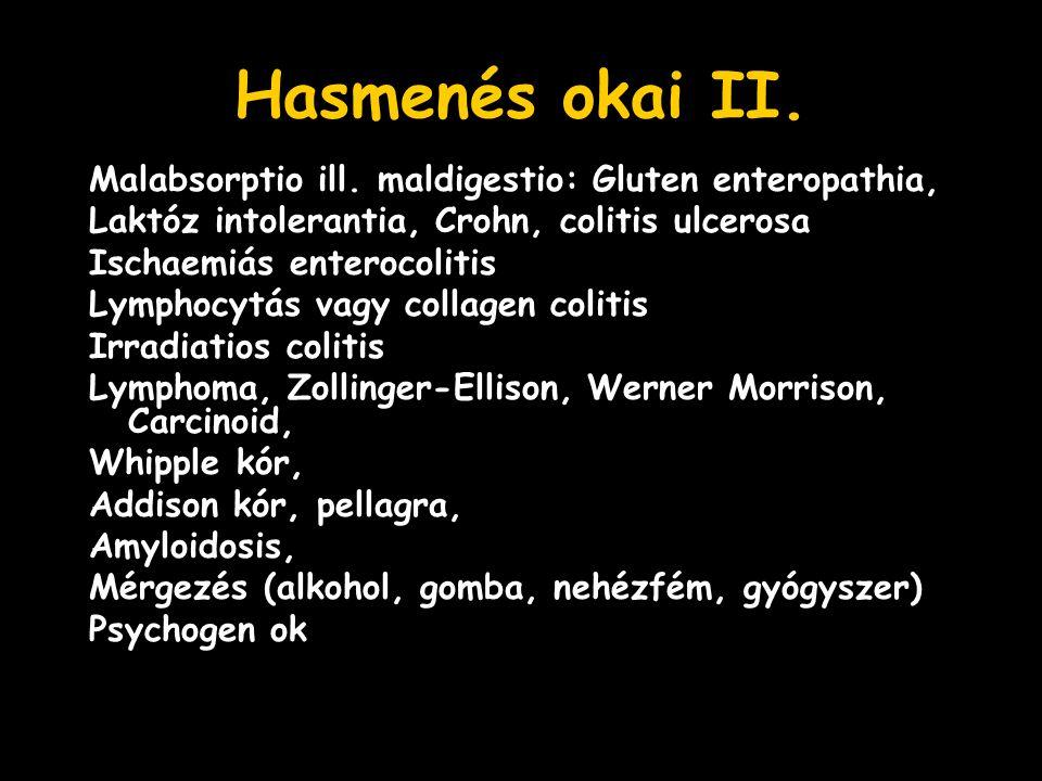 Hasmenés okai II. Malabsorptio ill.