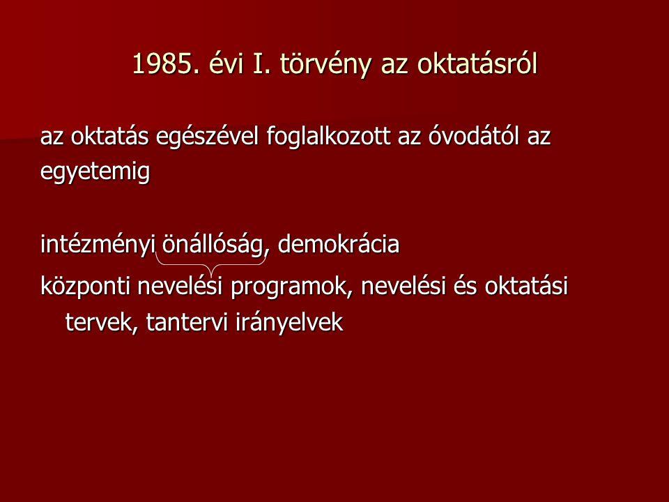 1985. évi I.