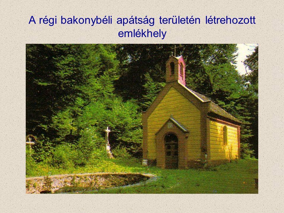 A régi bakonybéli apátság területén létrehozott emlékhely