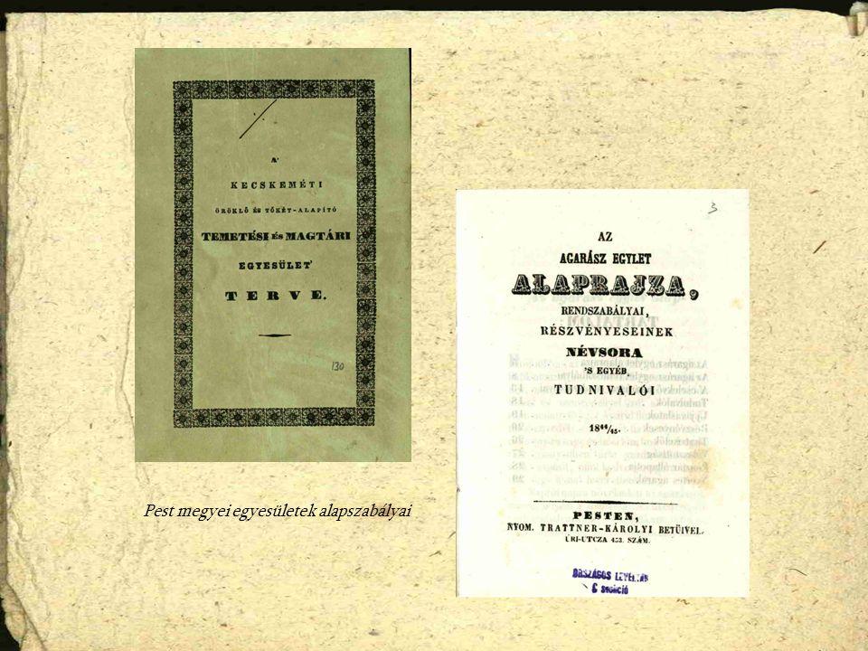 Pest megyei egyesületek alapszabályai