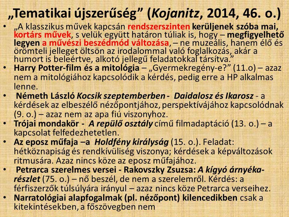 """""""Szerkezeti újszerűség (Kojanitz, 2014, 7."""