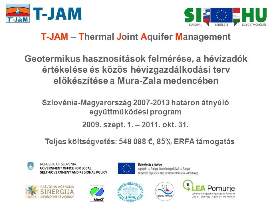 13 szlovén és 28 magyar geotermikus energia felhasználó A projekt területe: Pomurje, Podravje (SLO), Vas, Zala (HU) A felhasználók zöme ugyanazt a hévízadó összletet termeli visszasajtolás nélkül a határ 2 oldalán harmonizált hévízgazdálkodási stratégia nélkül: HOL ÉS MENNYI A TERMÉSZETSEN UTÁNPÓTLÓDÓ KITERMELHETŐ VÍZKÉSZLET?