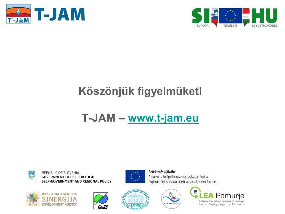 Köszönjük figyelmüket! T-JAM – www.t-jam.euwww.t-jam.eu