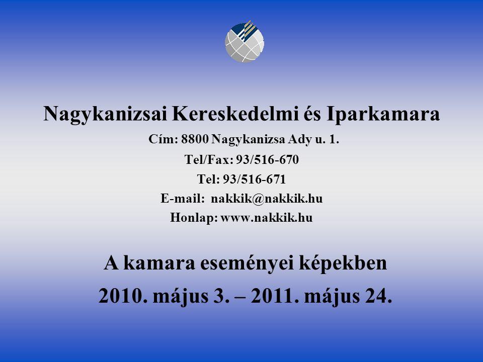 """Együttműködési megállapodás ünnepélyes aláírása és """"Nagykanizsa város minősített vállalkozója tanúsítványok átadása 2011."""