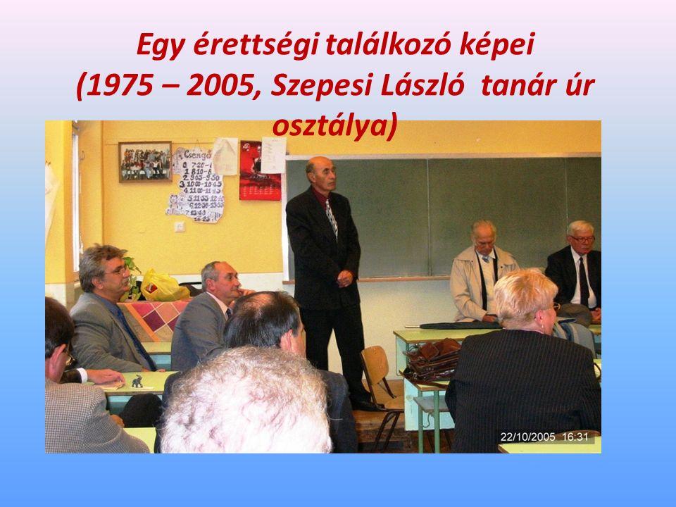 Egy érettségi találkozó képei (1975 – 2005, Szepesi László tanár úr osztálya)