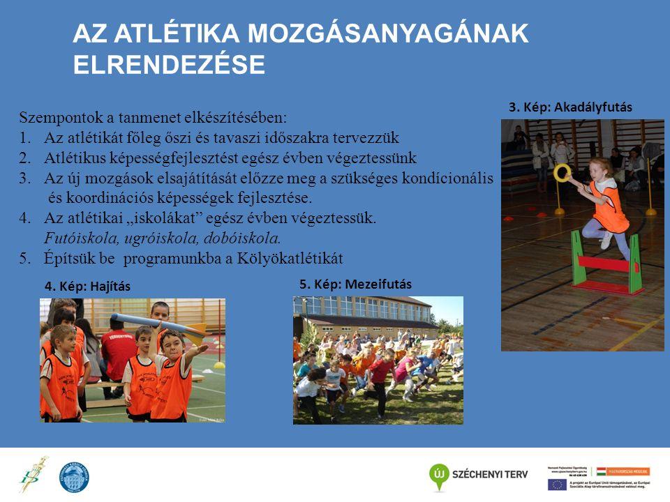 AZ ATLÉTIKA MOZGÁSANYAGÁNAK ELRENDEZÉSE Szempontok a tanmenet elkészítésében: 1.Az atlétikát főleg őszi és tavaszi időszakra tervezzük 2.Atlétikus kép