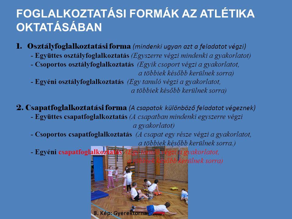 AZ ATLÉTIKA MOZGÁSOK OKTATÁSÁNAK MÓDSZEREI 1.