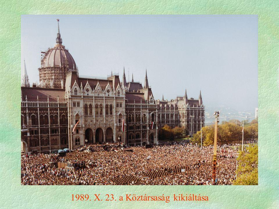 1989. X. 23. a Köztársaság kikiáltása