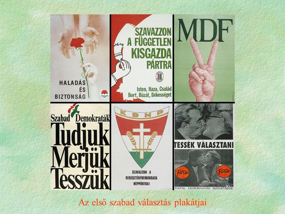 Az első szabad választás plakátjai