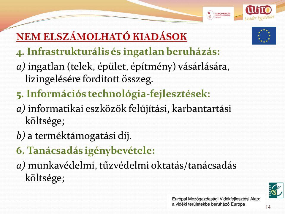 NEM ELSZÁMOLHATÓ KIADÁSOK 4.