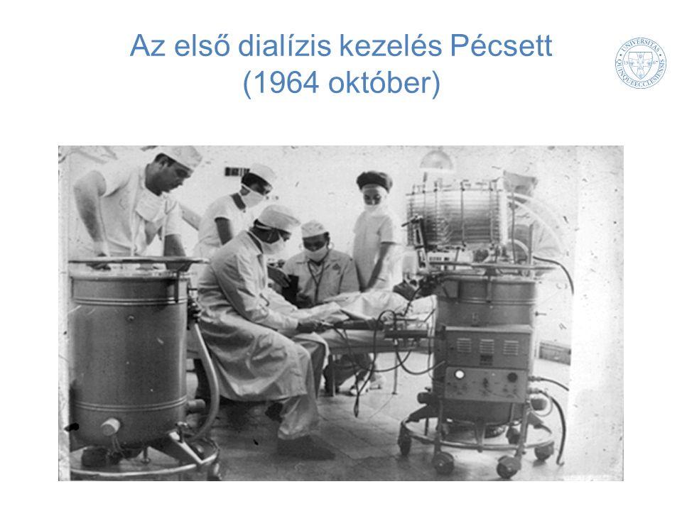 Az első dialízis kezelés Pécsett (1964 október)