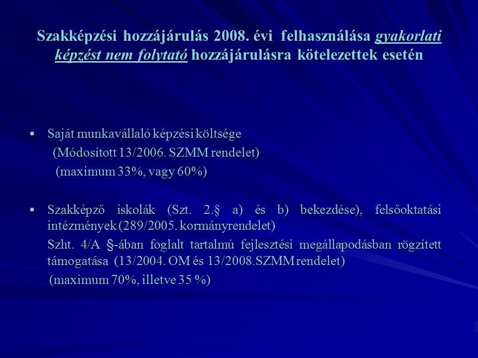 Szakképzési hozzájárulás 2008.