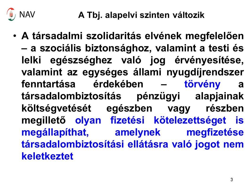 Vezető tisztségviselő társadalombiztosítási jogállása A Tbj.