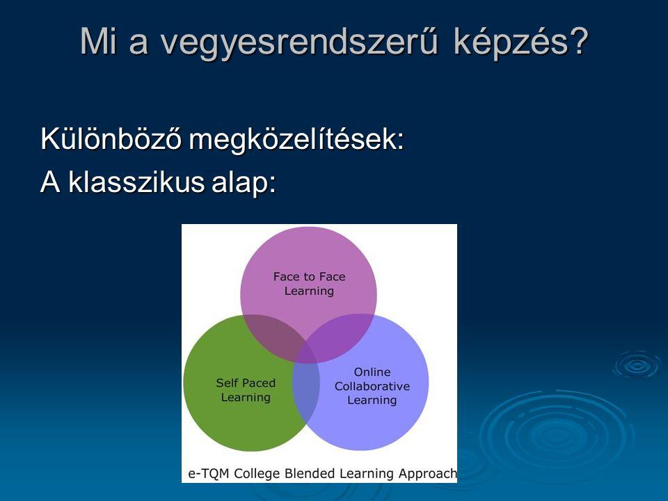 Mi a vegyesrendszerű képzés Különböző megközelítések: A klasszikus alap: