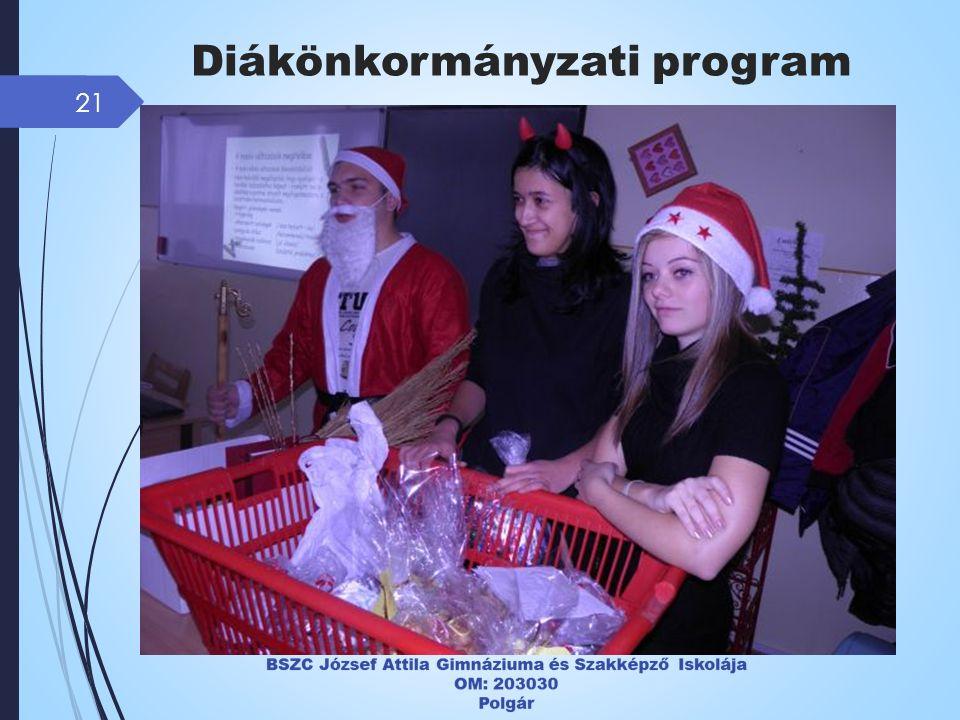 21 Diákönkormányzati program