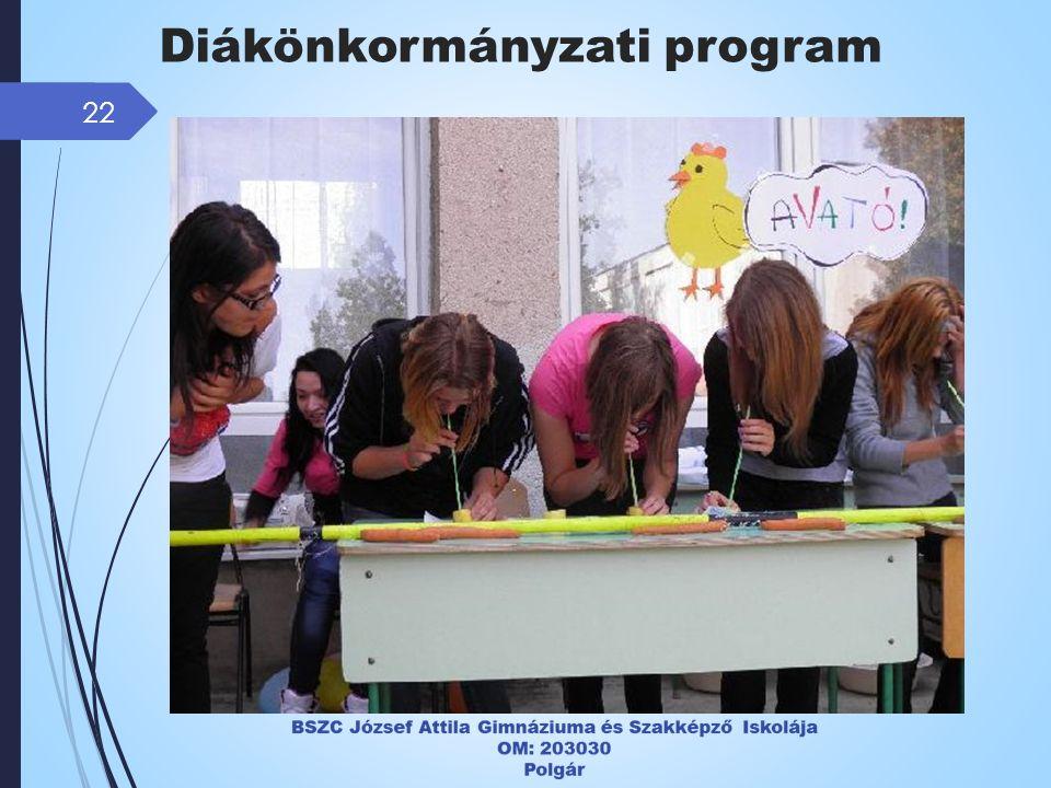 22 Diákönkormányzati program