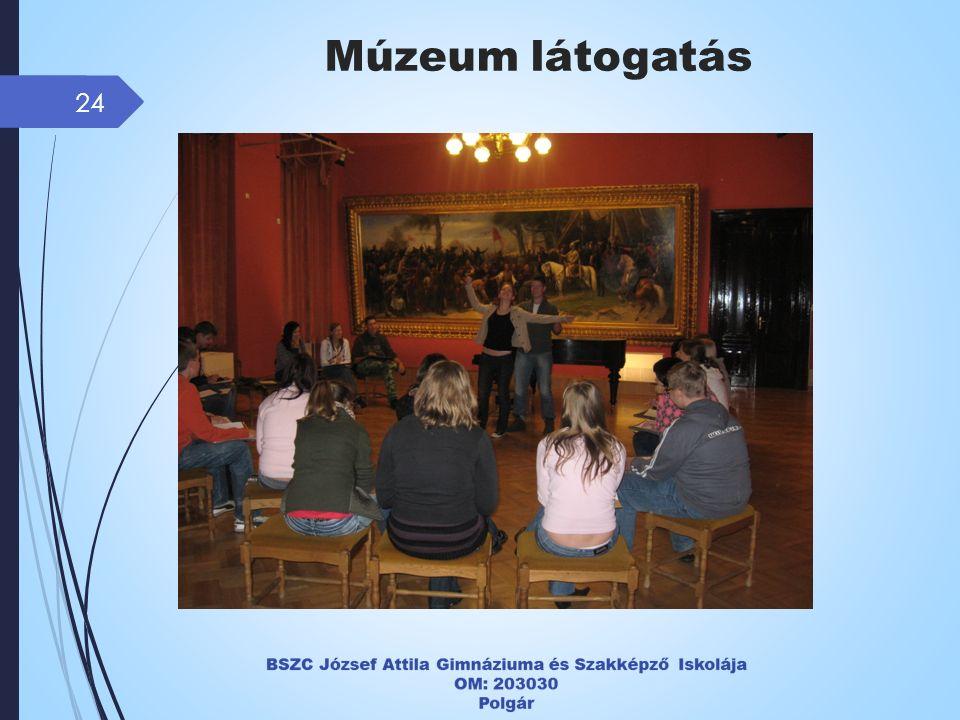 24 Múzeum látogatás