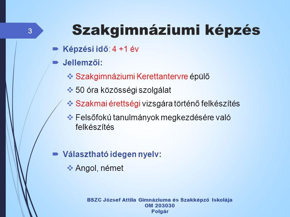 Szakgimnáziumi képzés Informatika ágazat 4 OM 203030 Kódszám: 078  Képzési idő: 4 év  Jellemzői:  Szoftverorientált: programozási, adatbázis-kezelői, táblázatkezelői, szövegszerkesztői, hálózat- üzemeltetői ismeretek  Választható idegen nyelv:  Angol, német  Kinek ajánlott a képzés.