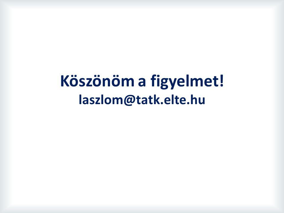 Köszönöm a figyelmet! laszlom@tatk.elte.hu
