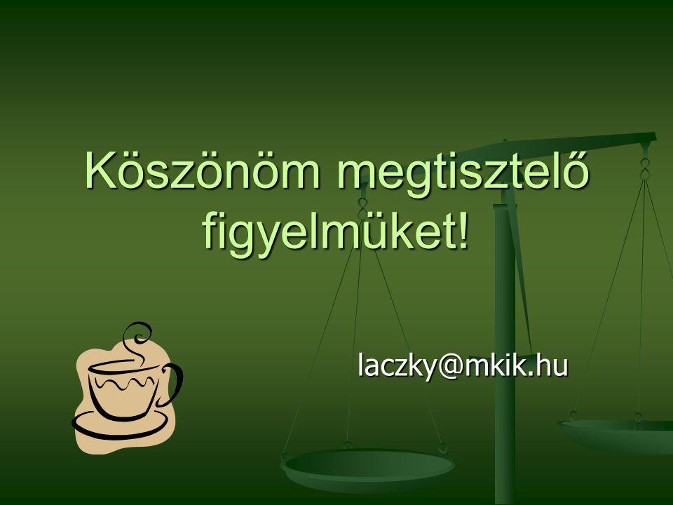 Köszönöm megtisztelő figyelmüket! laczky@mkik.hu