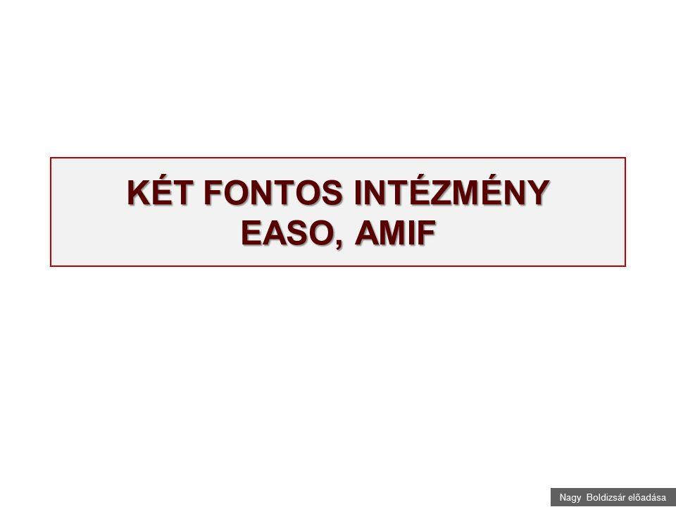 Nagy Boldizsár előadása KÉT FONTOS INTÉZMÉNY EASO, AMIF