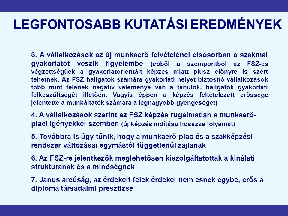 LEGFONTOSABB KUTATÁSI EREDMÉNYEK 3.