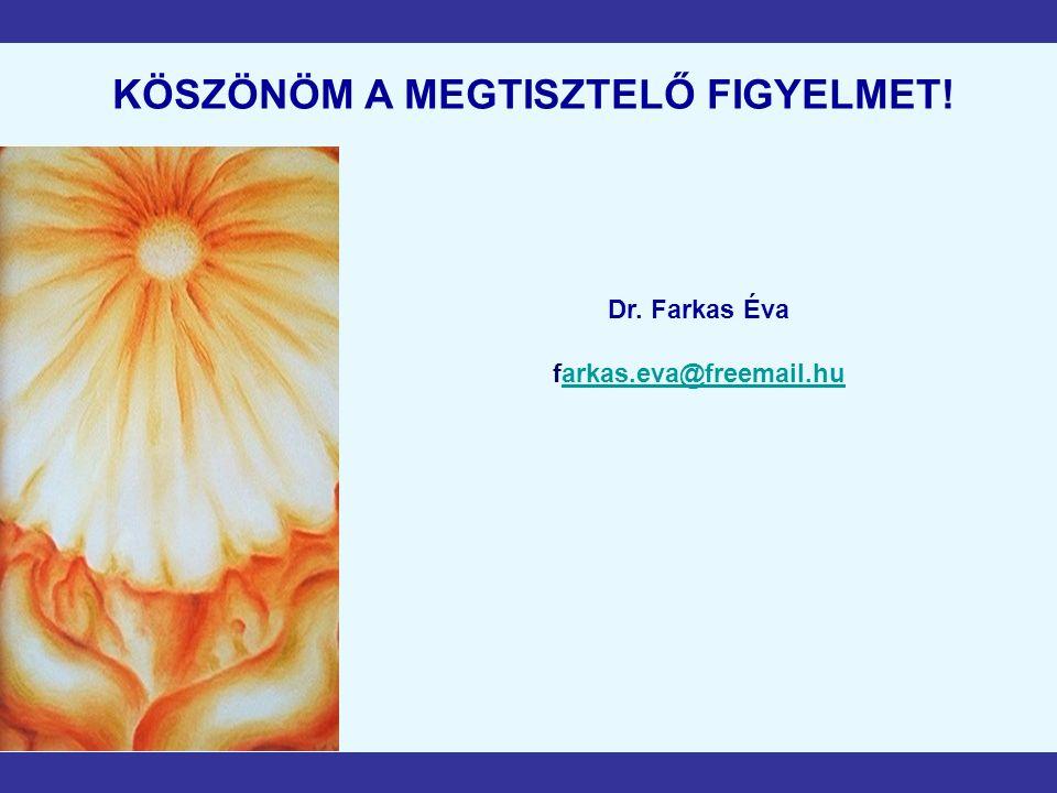 KÖSZÖNÖM A MEGTISZTELŐ FIGYELMET! Dr. Farkas Éva farkas.eva@freemail.huarkas.eva@freemail.hu