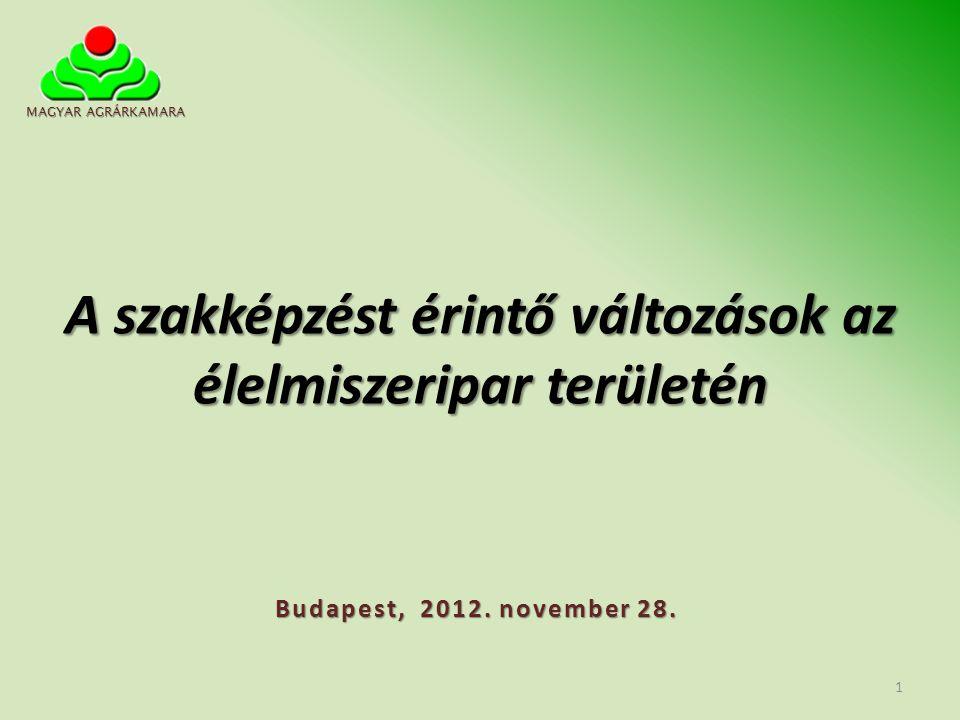 A szakképző iskolai intézmények átszervezése az önkormányzati szakképző iskolák állami fenntartásba kerülnek fenntartás és működtetés: nagy szakképző iskolák működtetője az állam (2013 szeptemberétől) 202/2012.