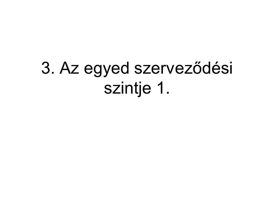 3. Az egyed szerveződési szintje 1.