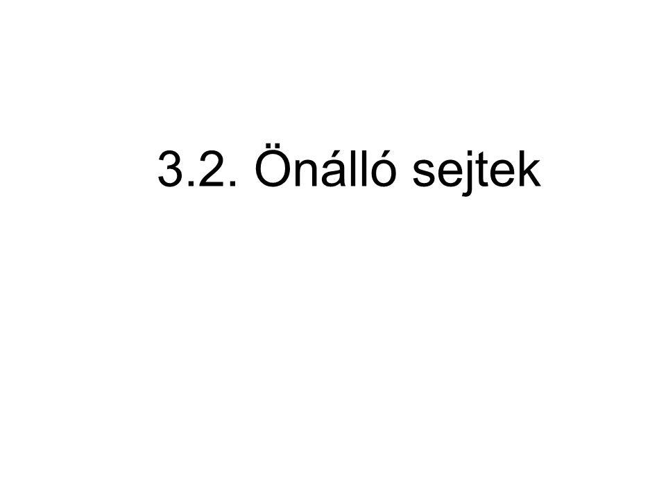 3.2. Önálló sejtek