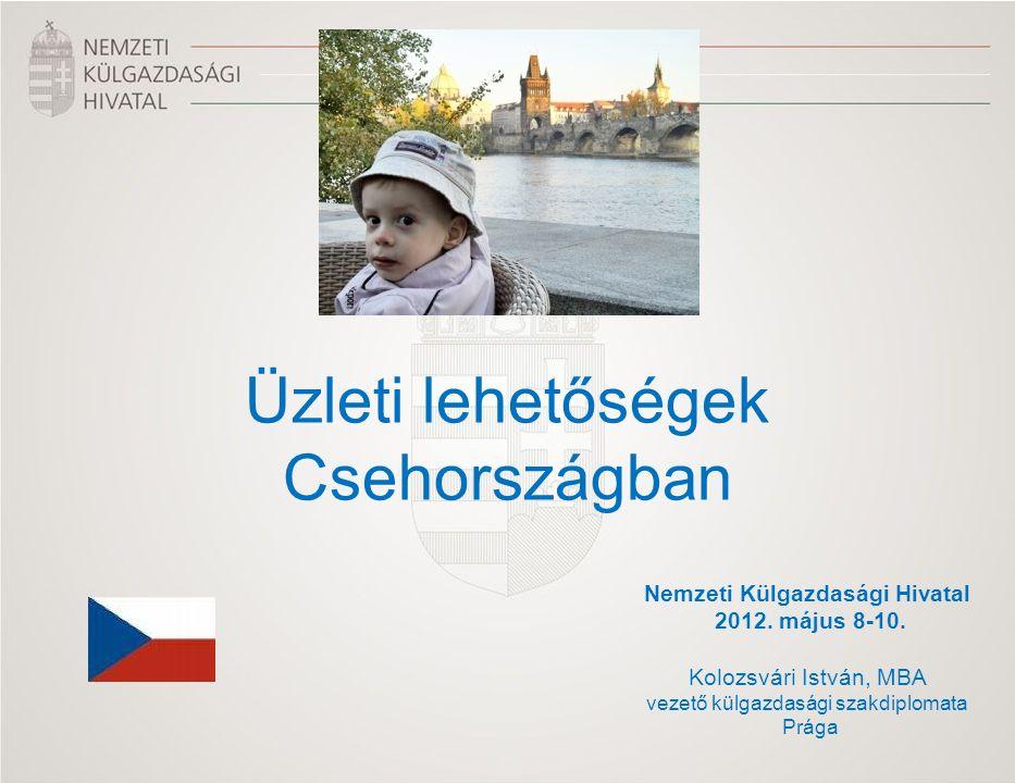 Nemzeti Külgazdasági Hivatal 2012. május 8-10. Kolozsvári István, MBA vezető külgazdasági szakdiplomata Prága Üzleti lehetőségek Csehországban