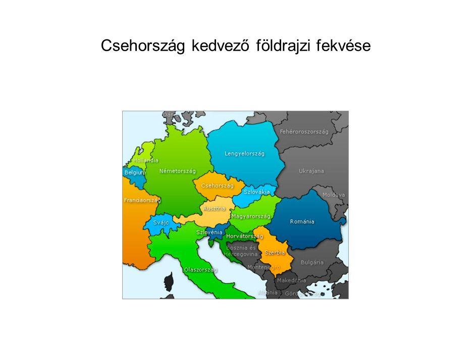 Csehország kedvező földrajzi fekvése