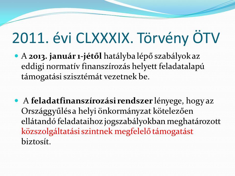 2011. évi CLXXXIX. Törvény ÖTV A 2013.