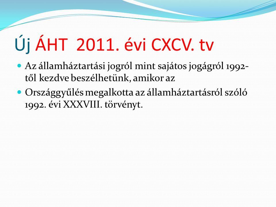 Új ÁHT 2011. évi CXCV.