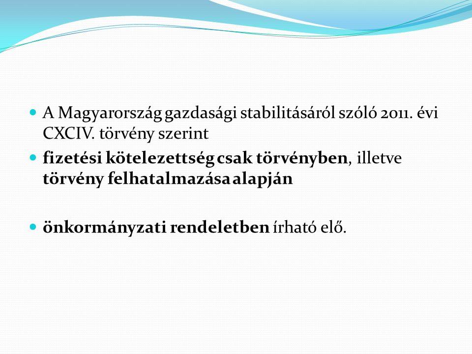 A Magyarország gazdasági stabilitásáról szóló 2011.
