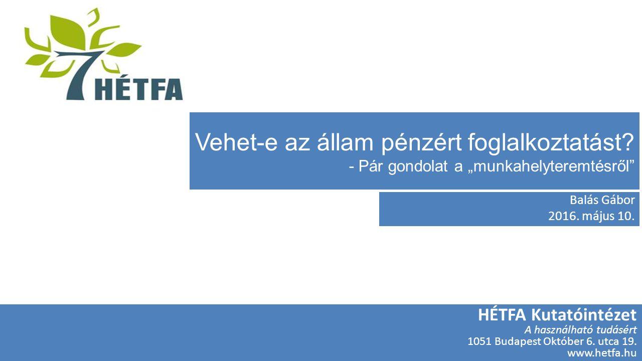 HÉTFA Kutatóintézet és Elemző Központ HÉTFA Kutatóintézet A használható tudásért 1051 Budapest Október 6.