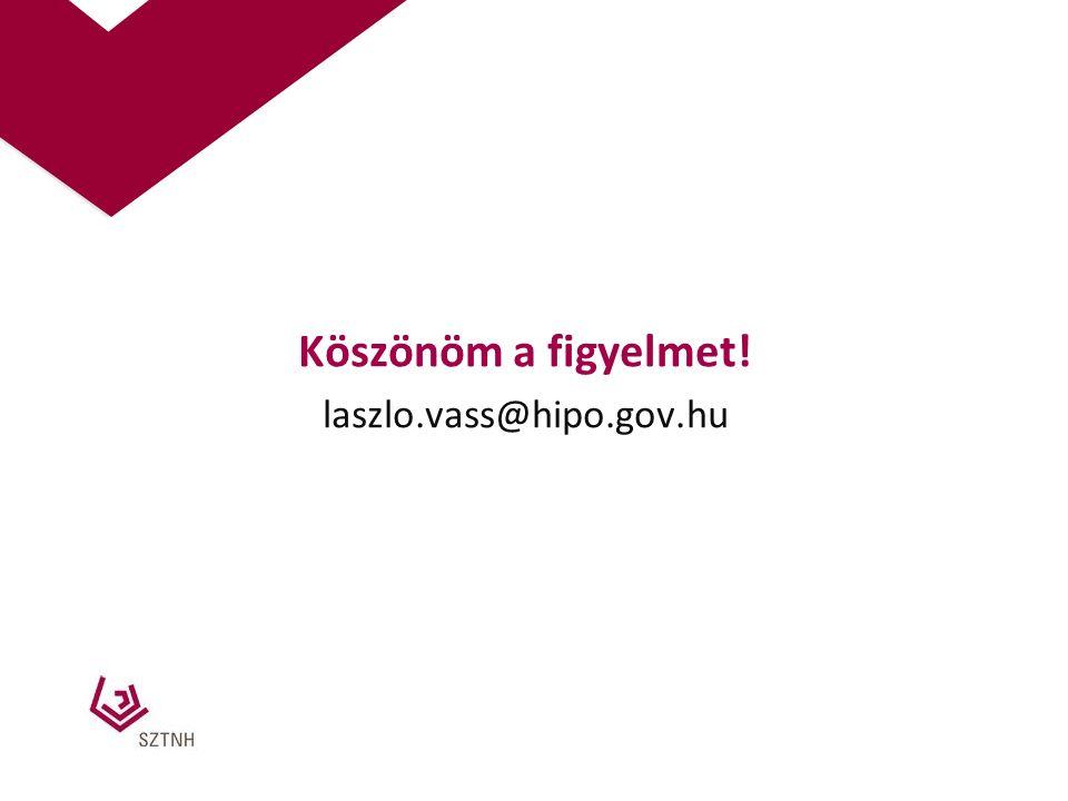 Köszönöm a figyelmet! laszlo.vass@hipo.gov.hu