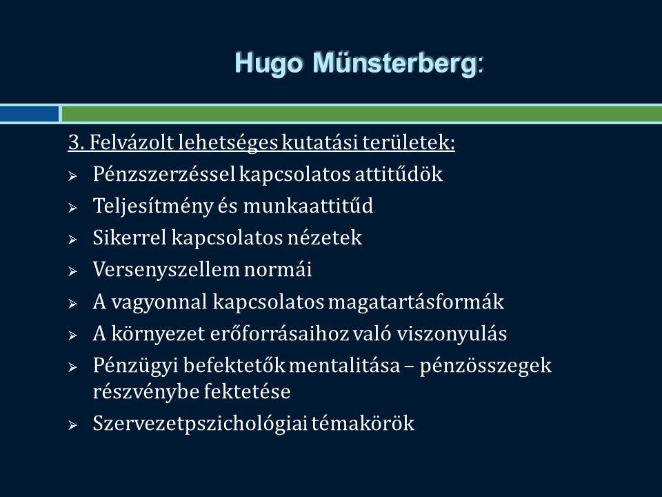 Hugo Münsterberg: 3.