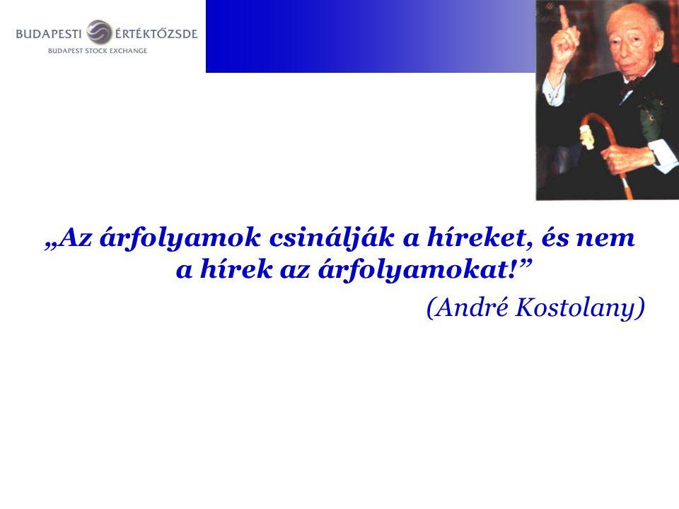 """""""Az árfolyamok csinálják a híreket, és nem a hírek az árfolyamokat! (André Kostolany)"""