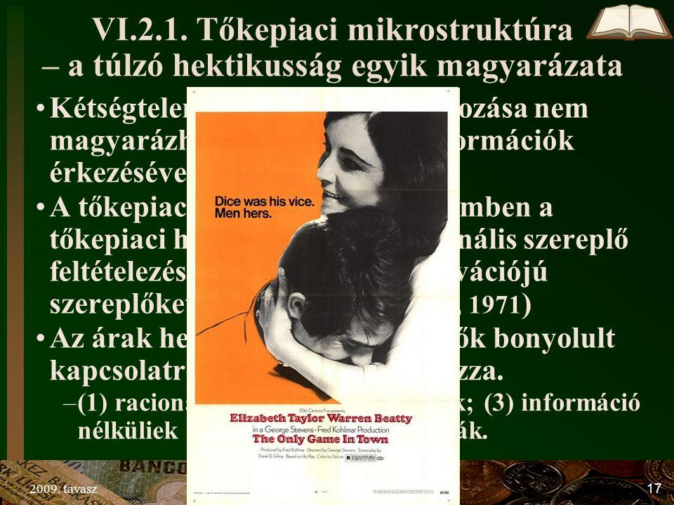2009. tavaszTőzsdei spekuláció17 VI.2.1.