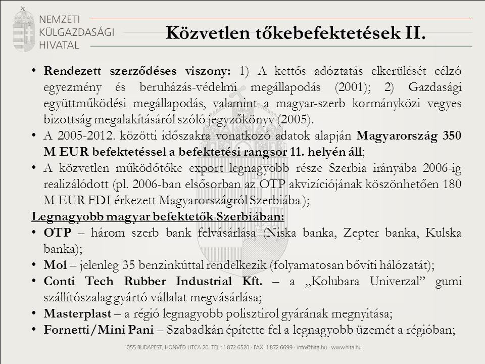 Közvetlen tőkebefektetések II.