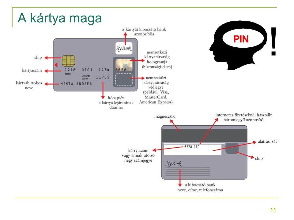 11 PIN ! A kártya maga